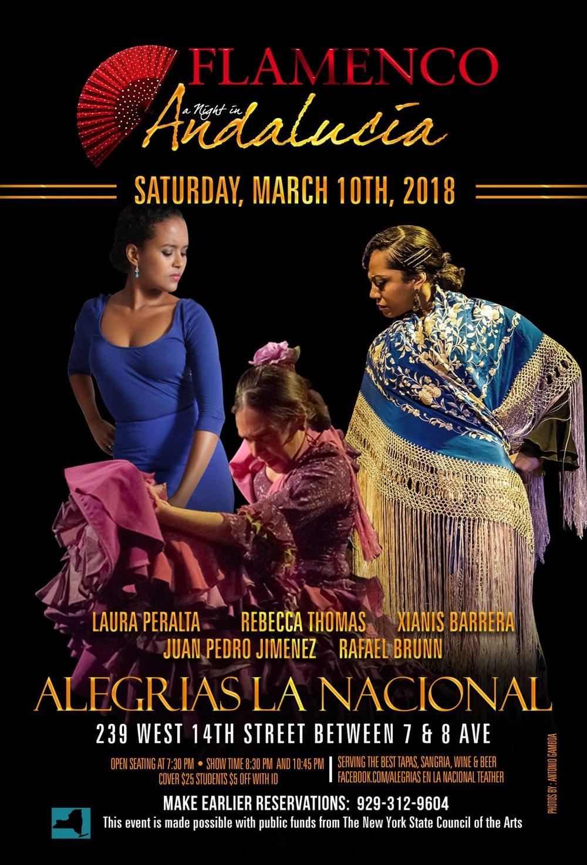 LAS MUJERESSaturday, March 10 - 8:30 & 10:45pmAlegrias en la nacional239 west 14th street, ManhattanINFO -