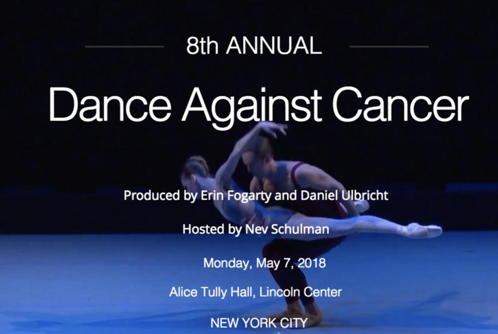 DANCE AGAINST CANCER BENEFIT CONCERT - Honored to be performing as part of Noche Flamencawith Martin Santangelo and Pedro JimenezMonday, May 7th - 8:00 pmAlice Tully Hall at Lincoln CenterFor tickets click HERE