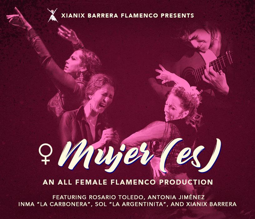 "♀ MUJER(ES) - An ALL female flamenco theatrical production in the heart of El Barrio, Manhattan. Featuring Antonia Jimenez, Inma ""La Carbonera"" and Rosario Toledo!"