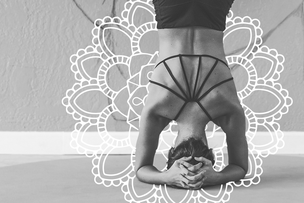 Headstand with Empower Mandala.