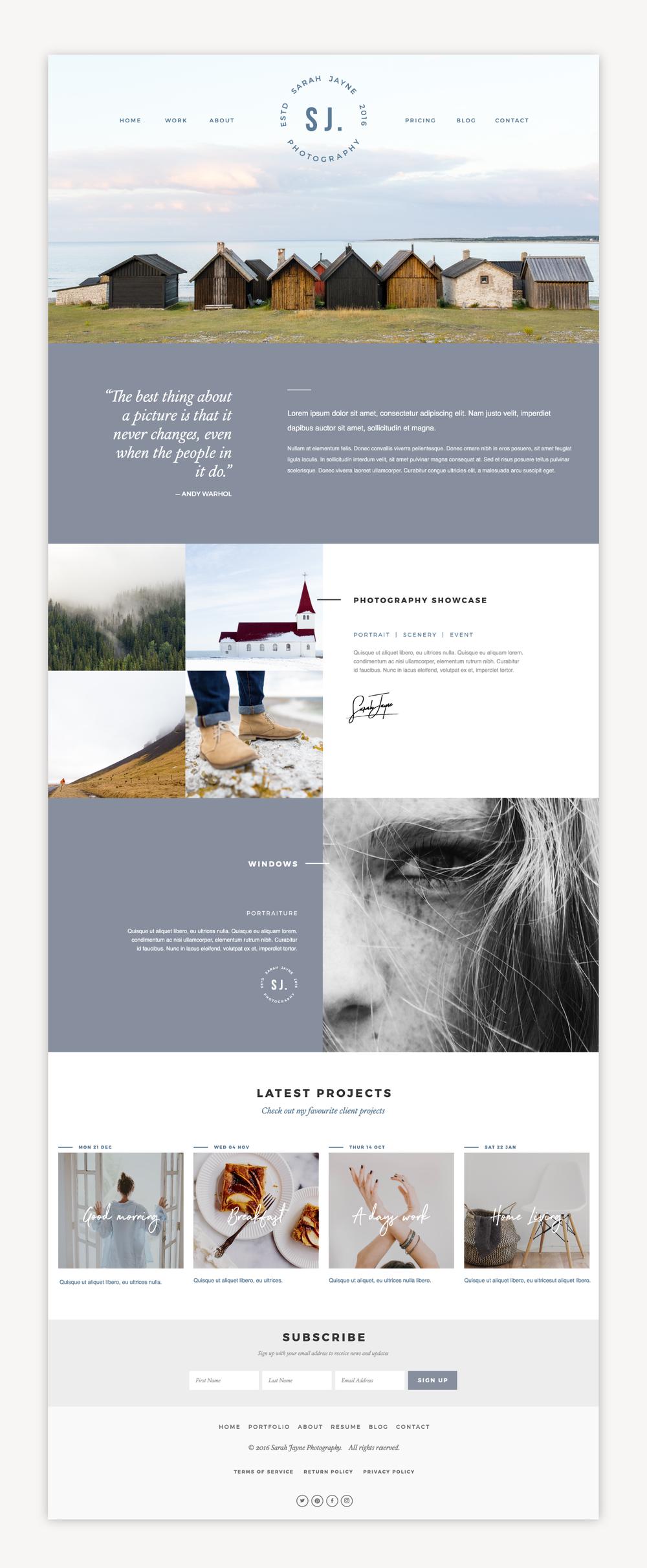 Photography website showcase.