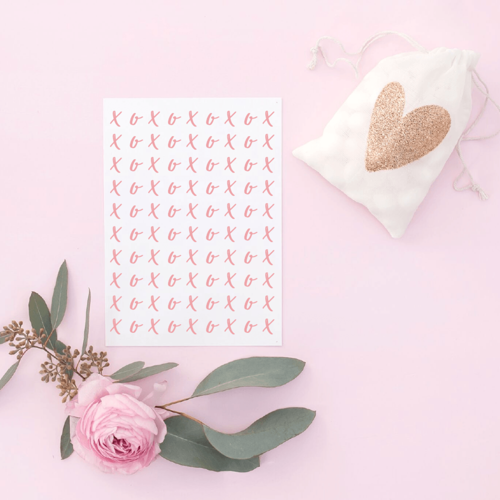 Free Valentine's Day card printables - XOXO