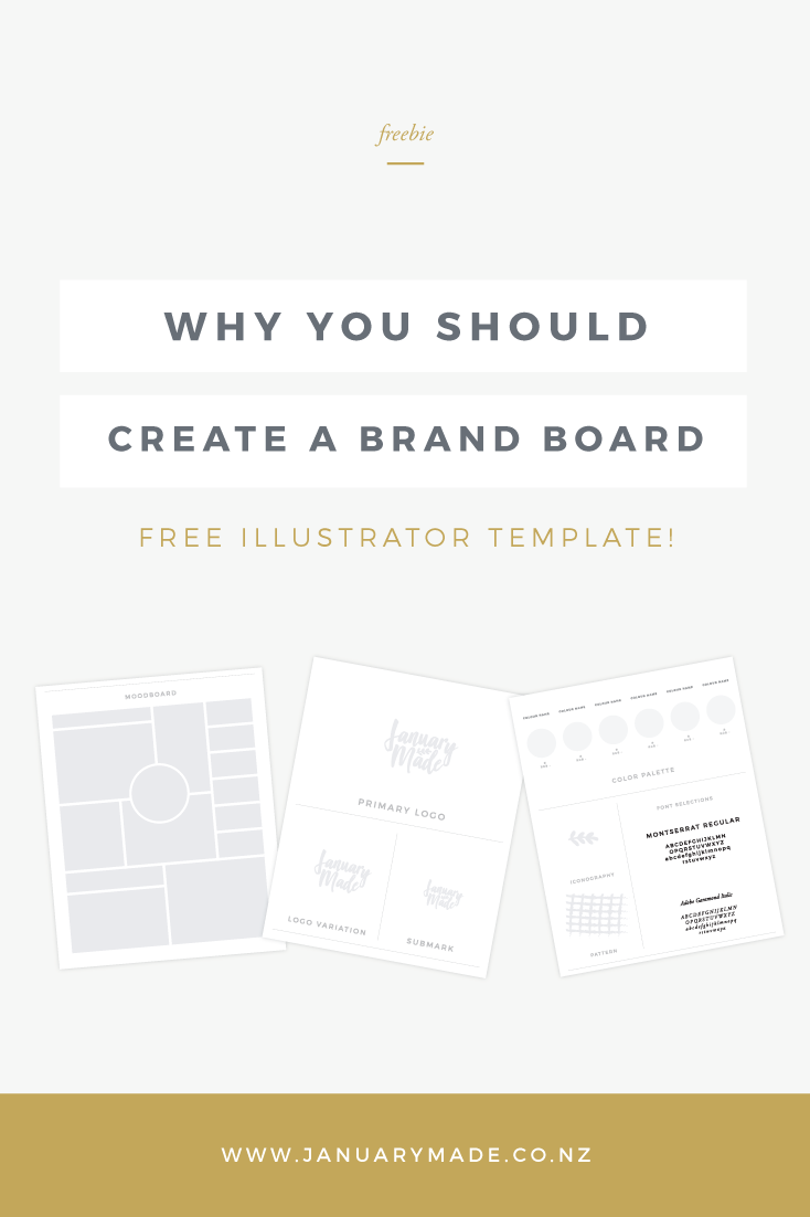 Why You Should Create A Brand Board + FREE Illustrator Template ...