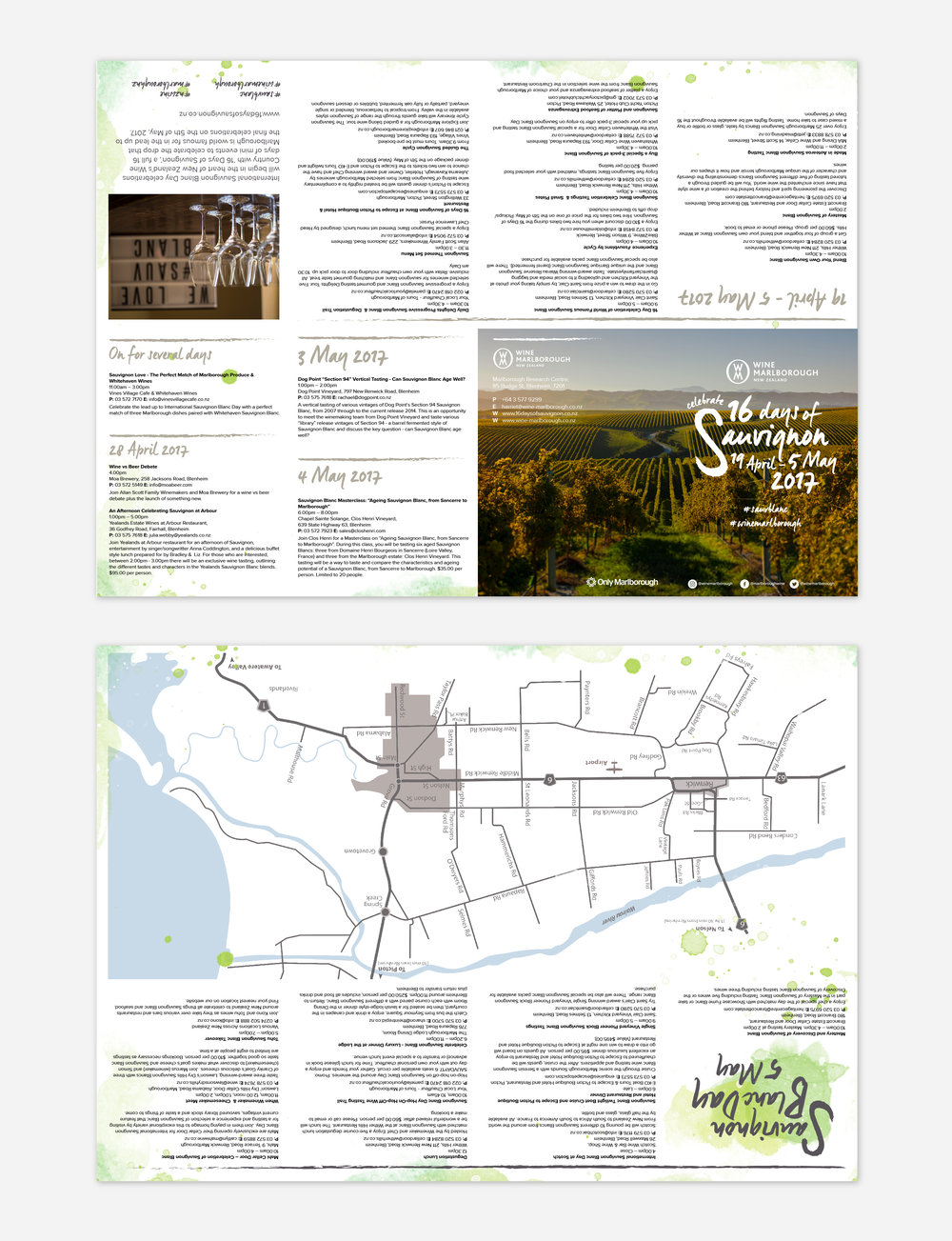 16 Days of Sauvignon fold out events guide + map.