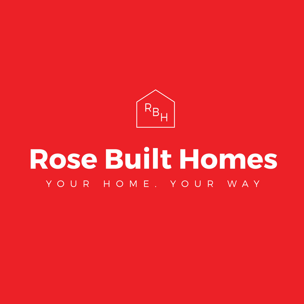 Rose Built Homes primary logo red.