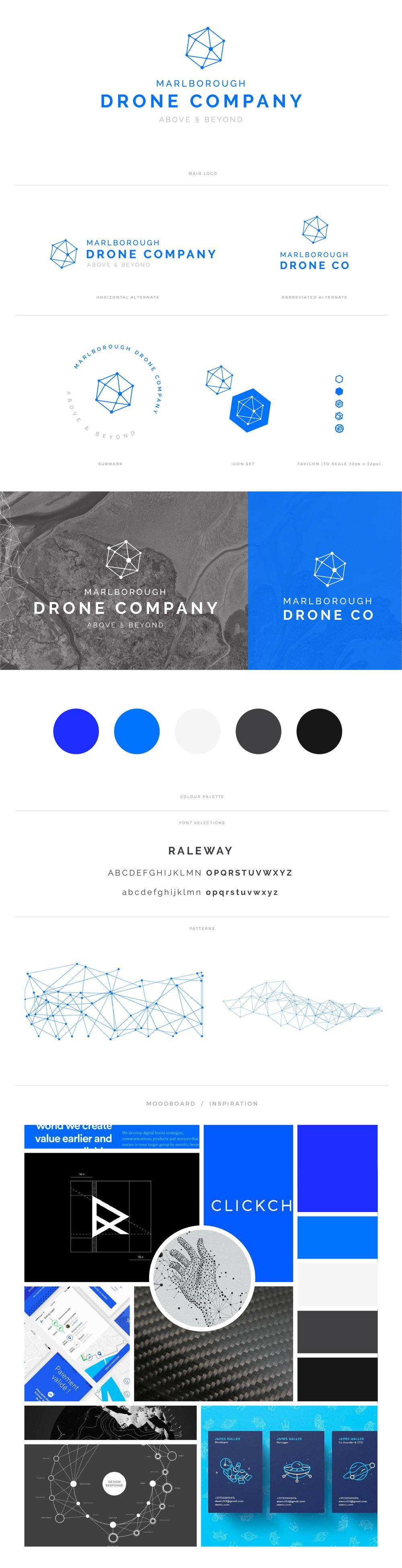Marlborough Drone Company Brandboard.