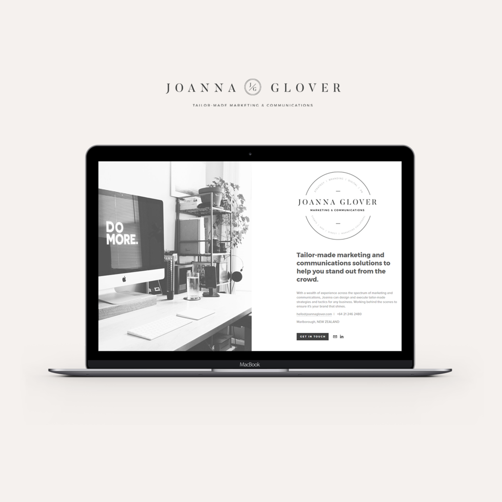 Joanna Glover website.