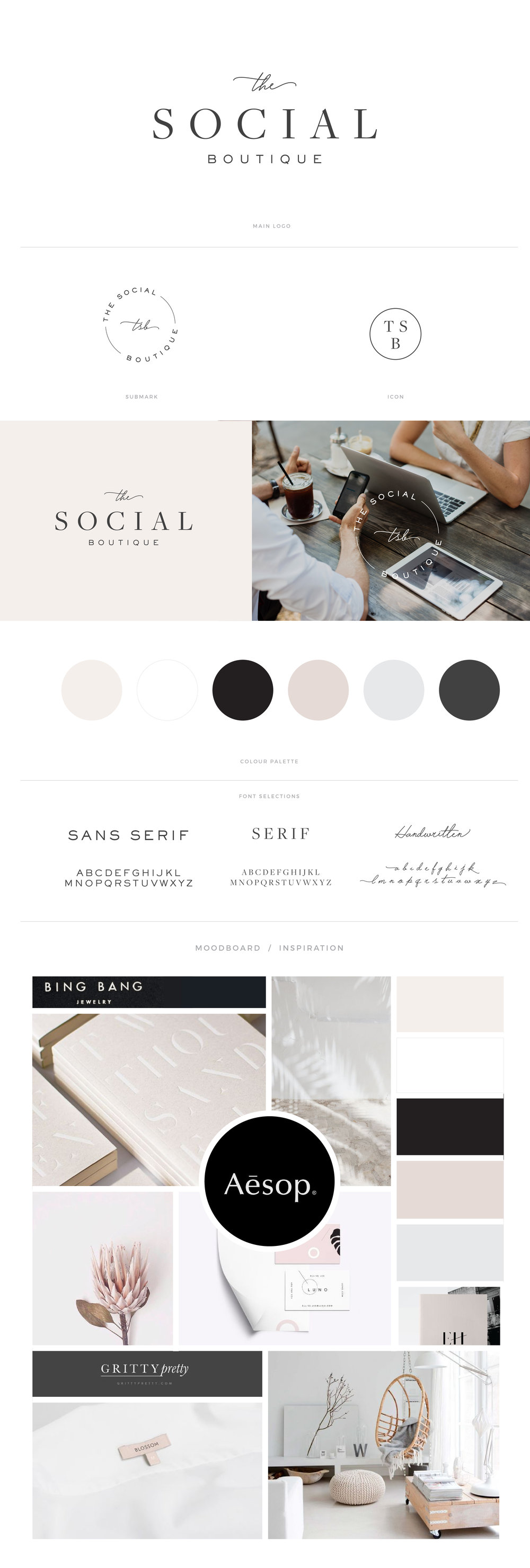 The Social Boutique Brandboard.
