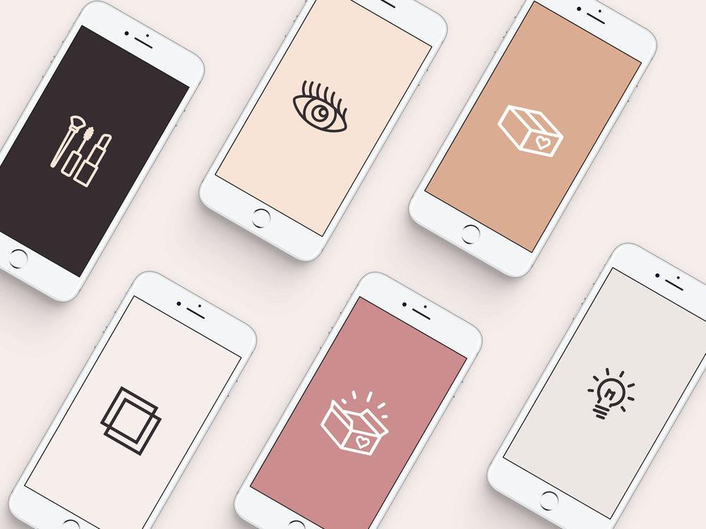 Secreto bespoke story covers - January Made Design