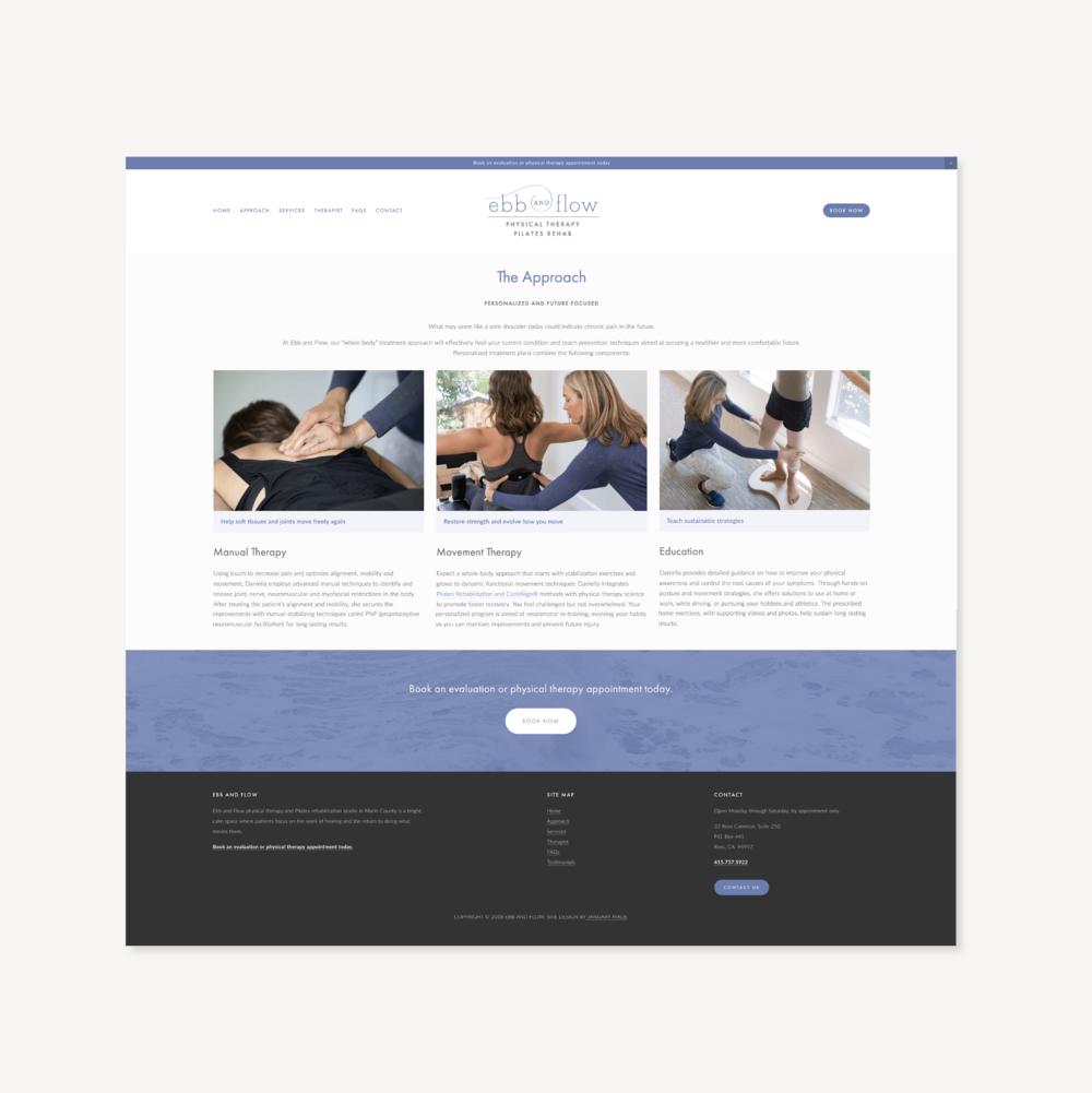 Ebb and Flow PT website - January Made Design