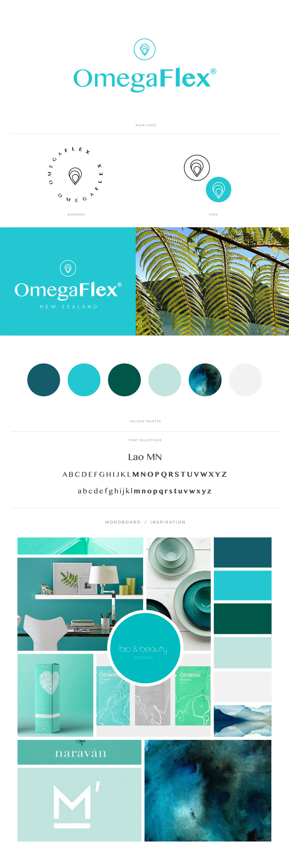 Omegaflex Brand Board - By January Made Design