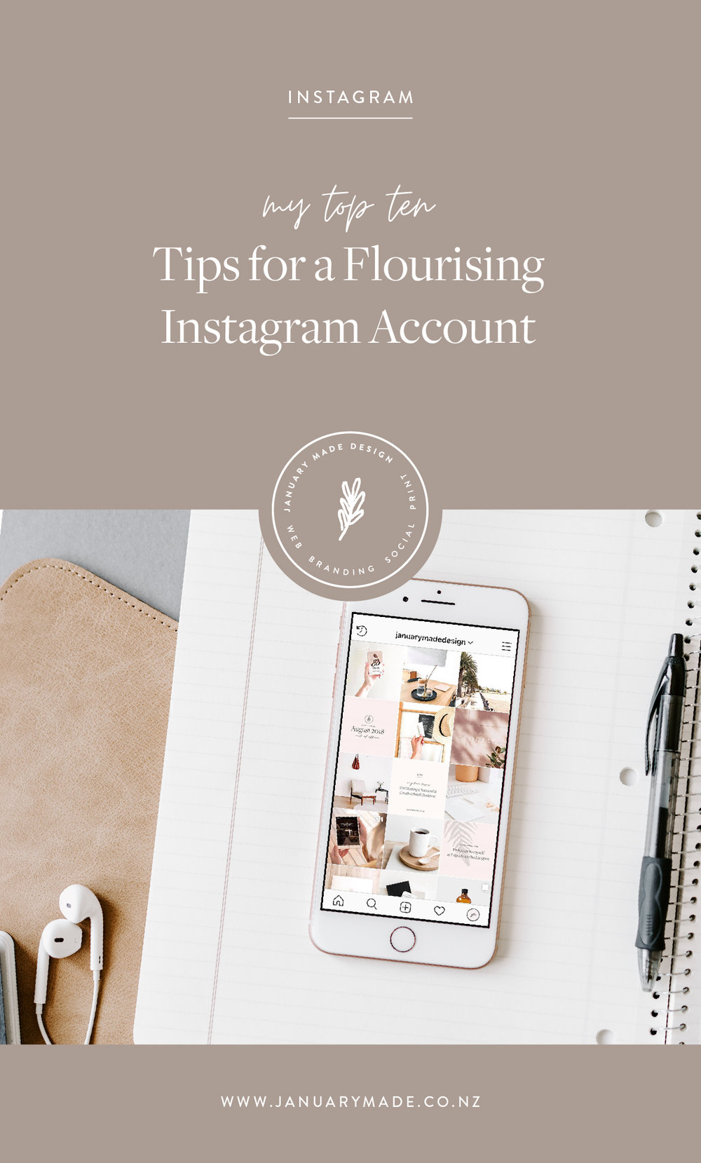 10 tips for a flourishing Instagram account - January Made Design