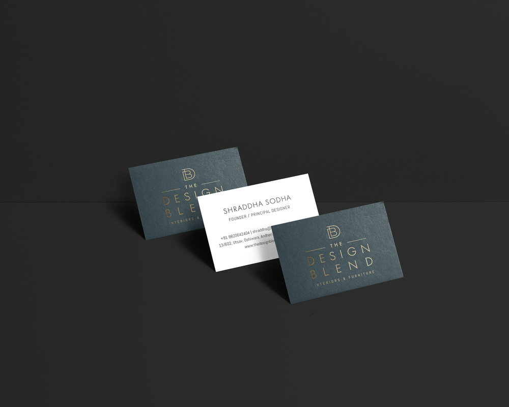 The Design Blend business cards - January Made Design