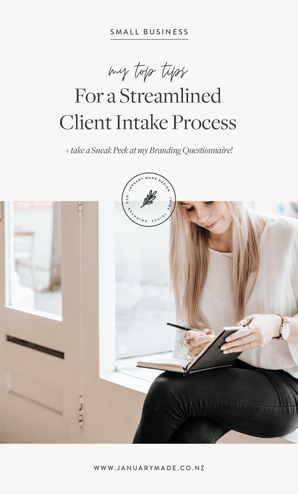 Client Intake Process Tips + take a Sneak Peek at my Questionnaire!