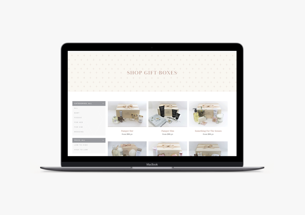 D'luxe Gifting website - January Made Design