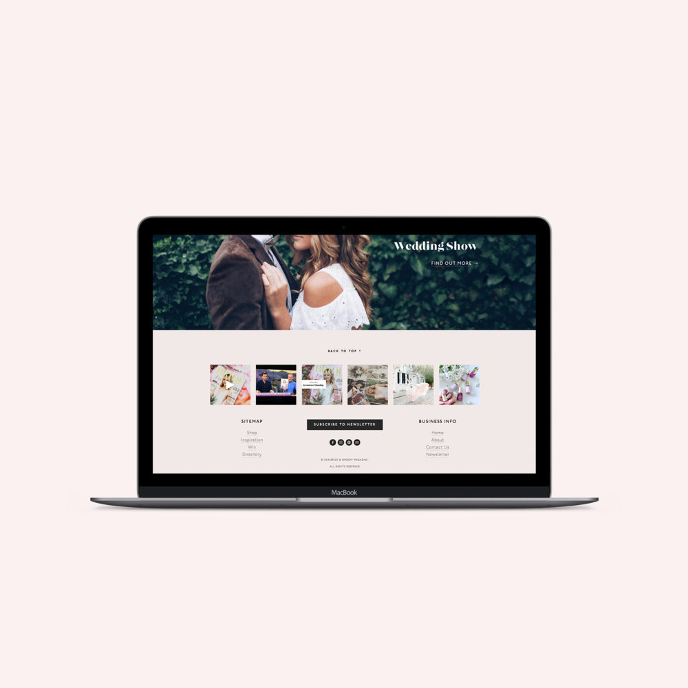 Bride and Groom Magazine website - By January Made Design