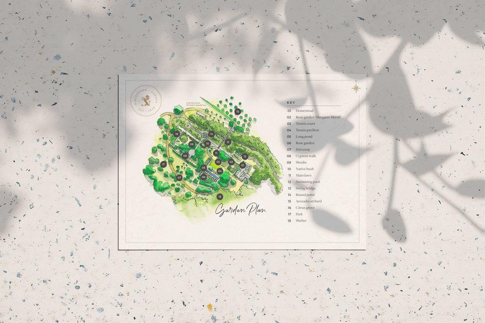 Winterhome Garden map - by January Made Design