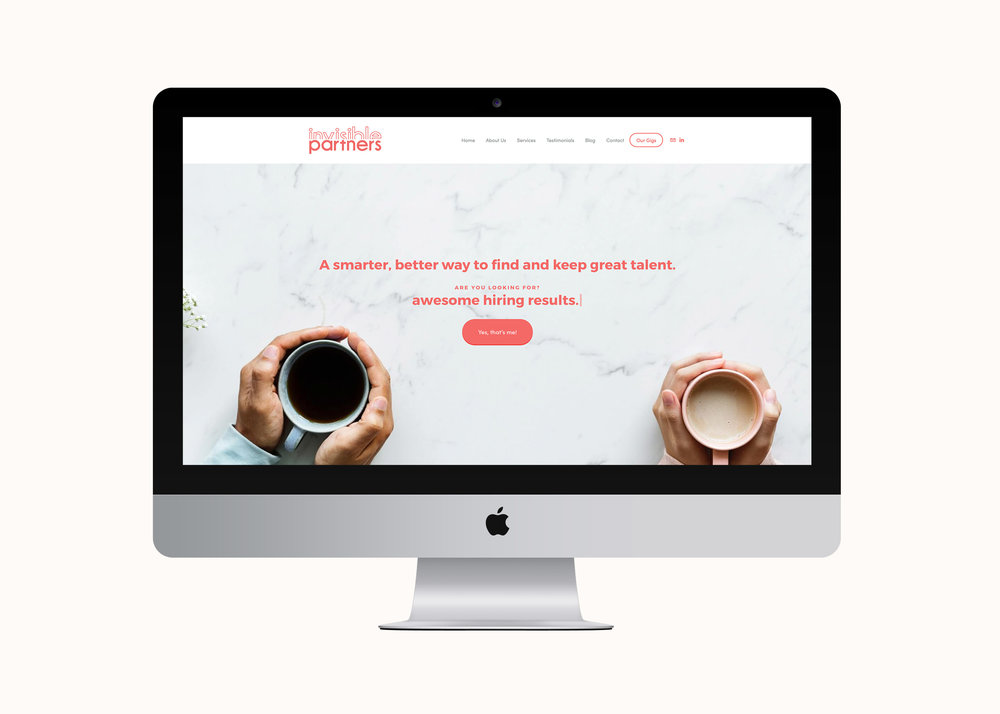 Invisible Partners website by January Made Design