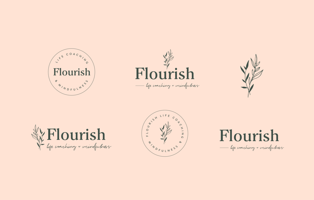 Flourish Life Coaching Logo Suite - by January Made Design