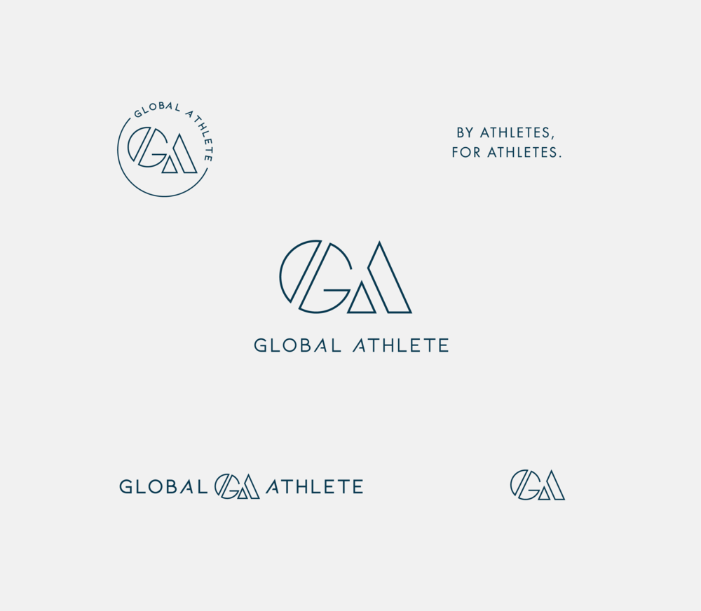 Global Athlete business cards - by January Made Design