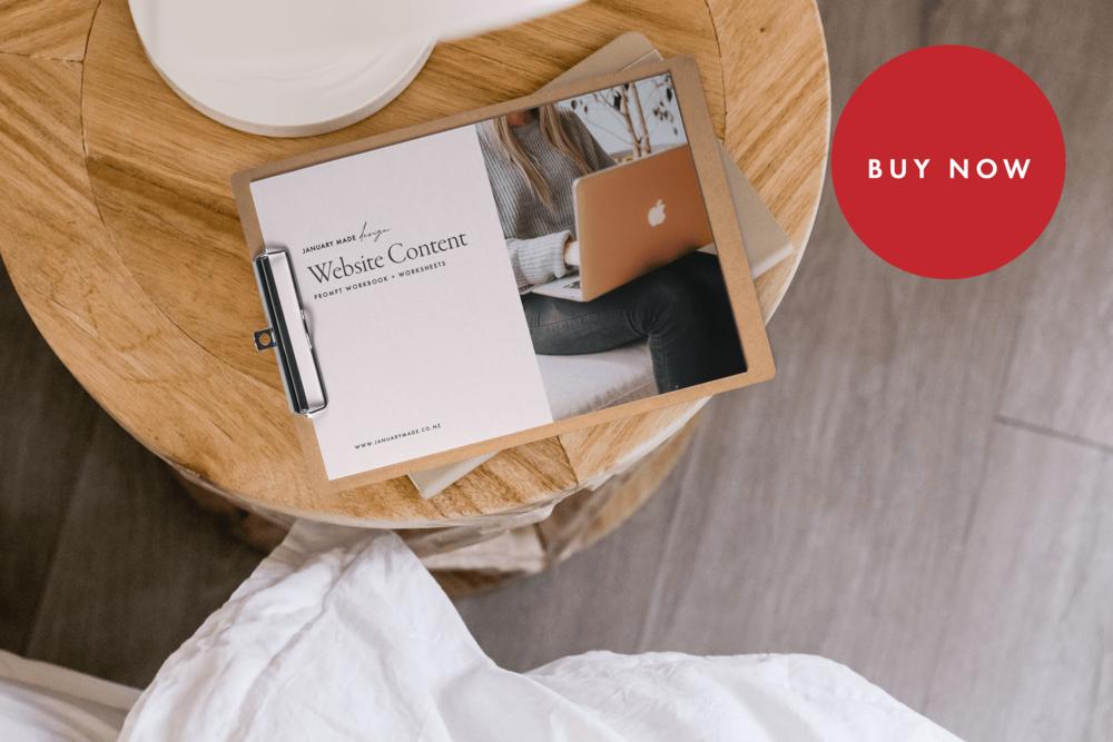 Website Content Prompt Workbook - $14.95
