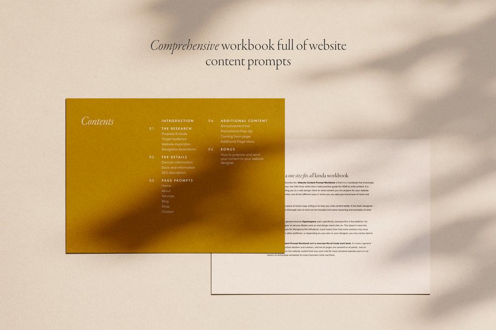 Website Content Prompt Workbook - January Made Design