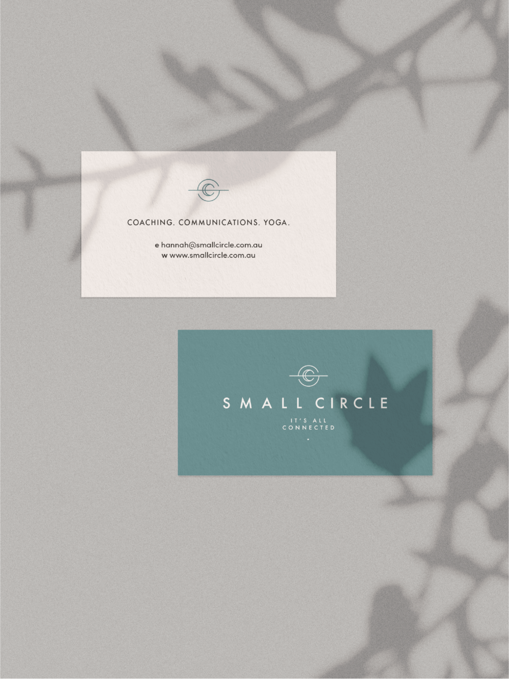 Small Circle business cards - January Made Design