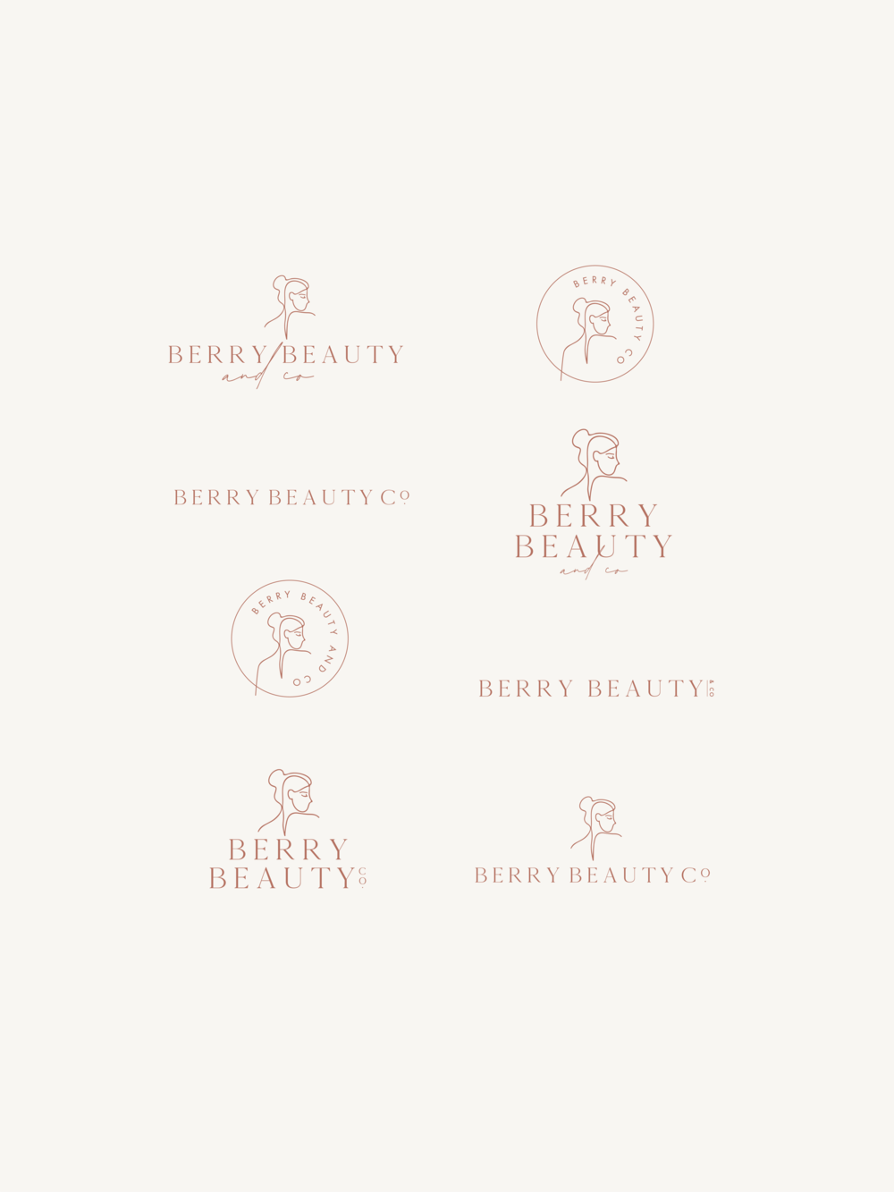 Berry Beauty & Co logos - by January Made Design