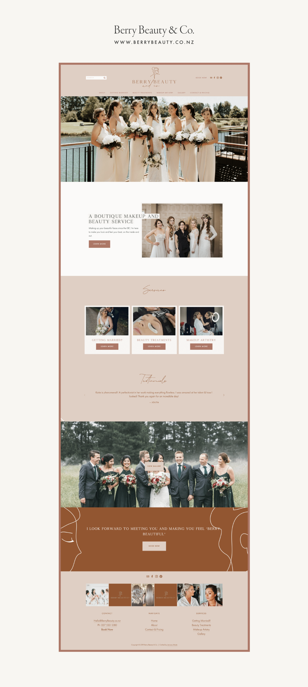 Berry Beauty & Co website - by January Made Design