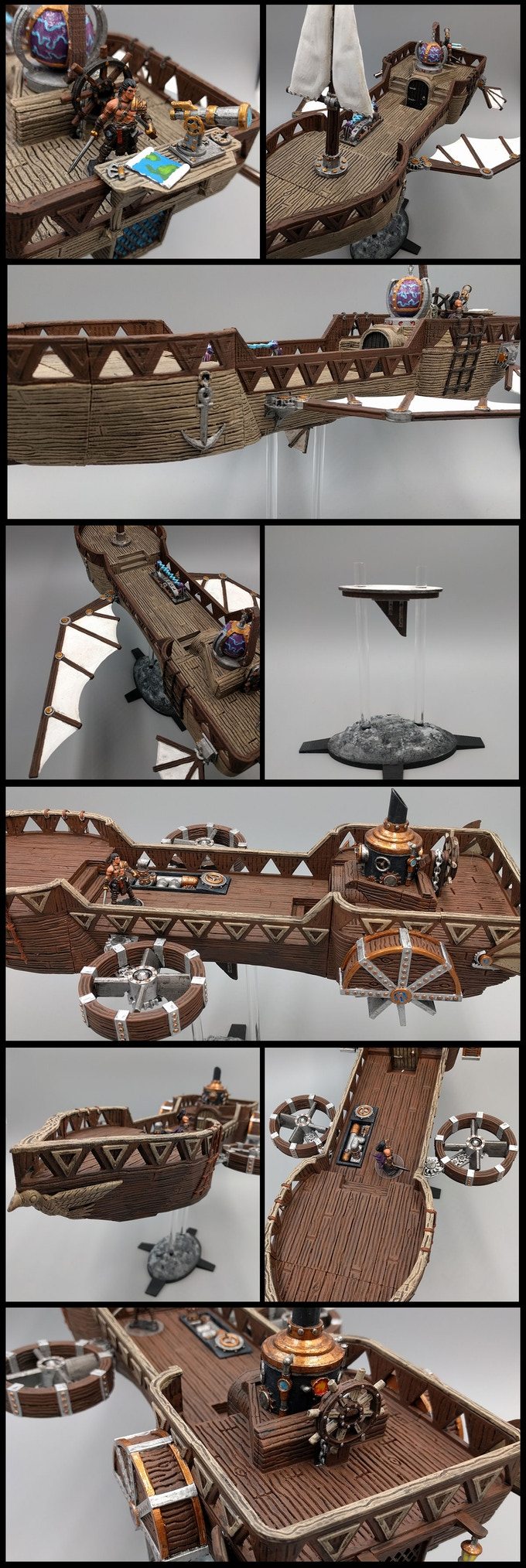 Modular Airships - I have worked to create what I hope are some of the most modular, dynamic, and beautifully designed airships to have graced tabletop gaming to date. You can customize and print your own unique airship for your players to explore your worlds, or assemble a diverse, powerful armada to rule the skies!