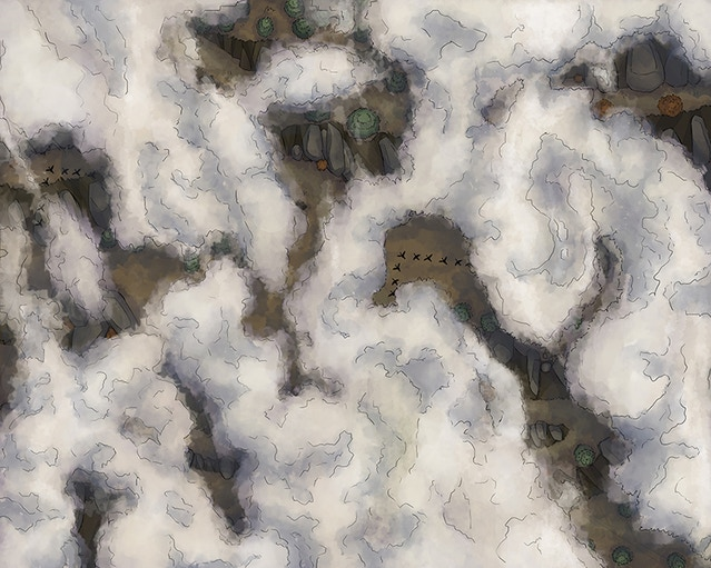 Flying / cloud map - Including regular and stormy version, perfect for airship or other aerial battles.