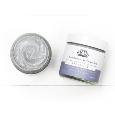 Bloomtown Blue Clay and Indigo Leaf Soothing Face Mask - featured in our Pamper gift box