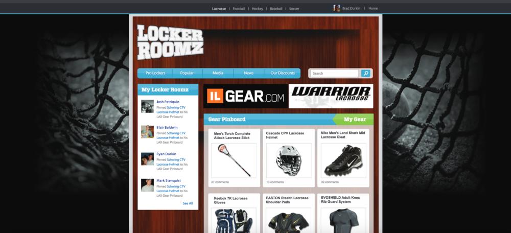 Locker Roomz Web Design