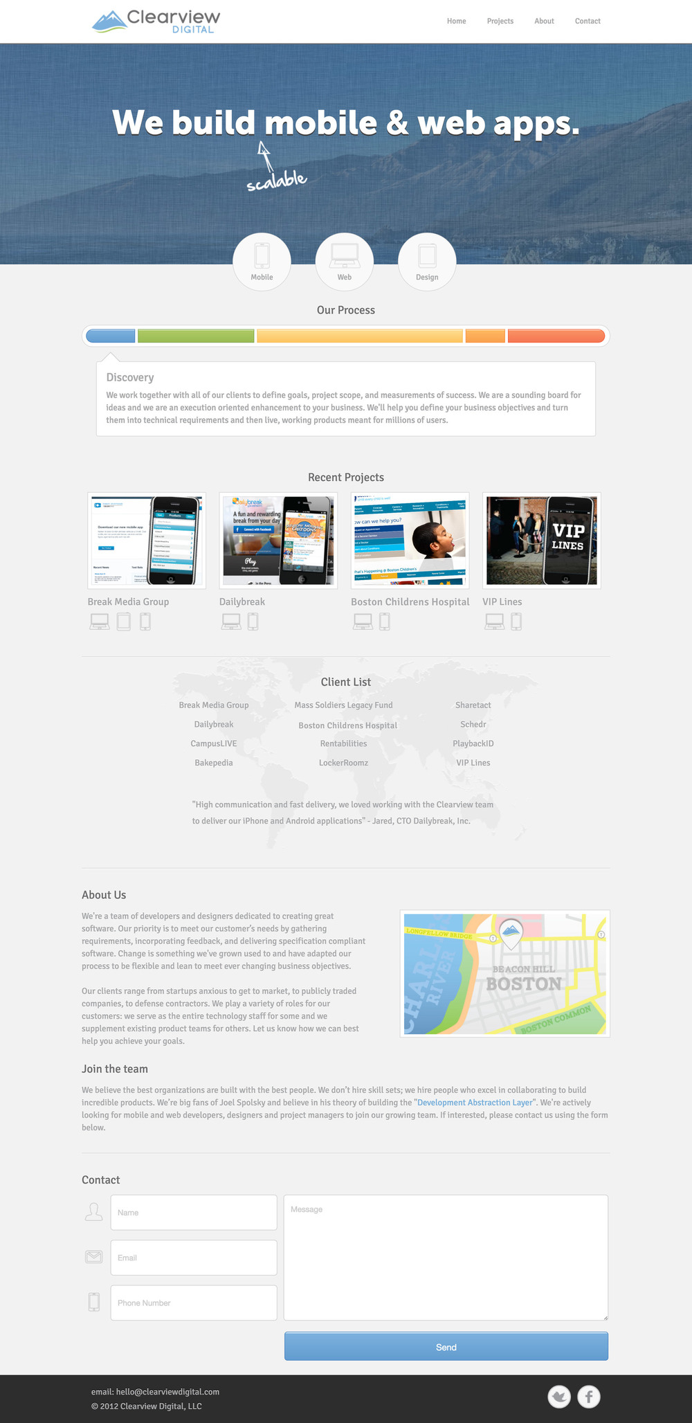 Clearview Digital Web Design and Front-End Engineering