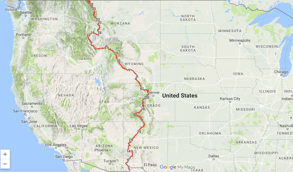 Americas Most Rewarding ThruHike Challenges JUNIPERMAGPIE - Interactive map of the continental divide in the us