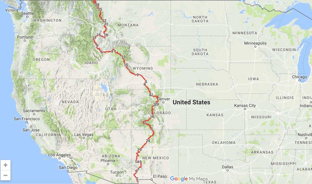 Americas Most Rewarding ThruHike Challenges JUNIPERMAGPIE - Cdt trail map