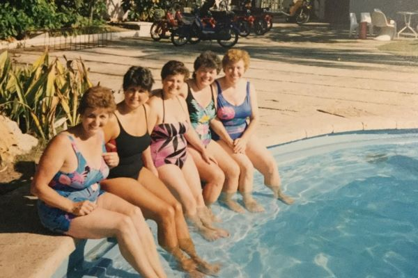 Grandma and the gang: Feisty, fifty-something and always pool ready.