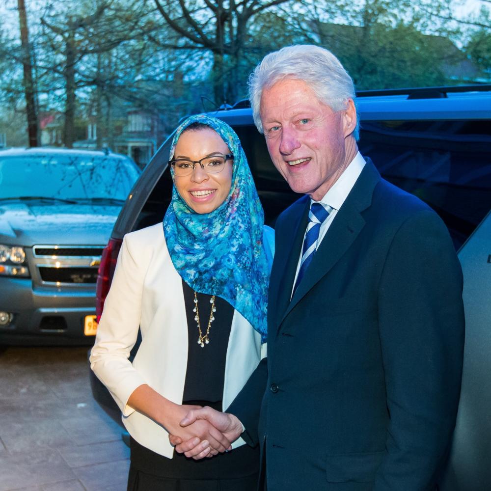 Blair Imani and President Bill Clinton