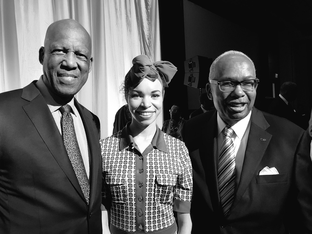 Dr. Terry Roberts, Blair Imani, and Ernest Green (2 of the Little Rock Nine)