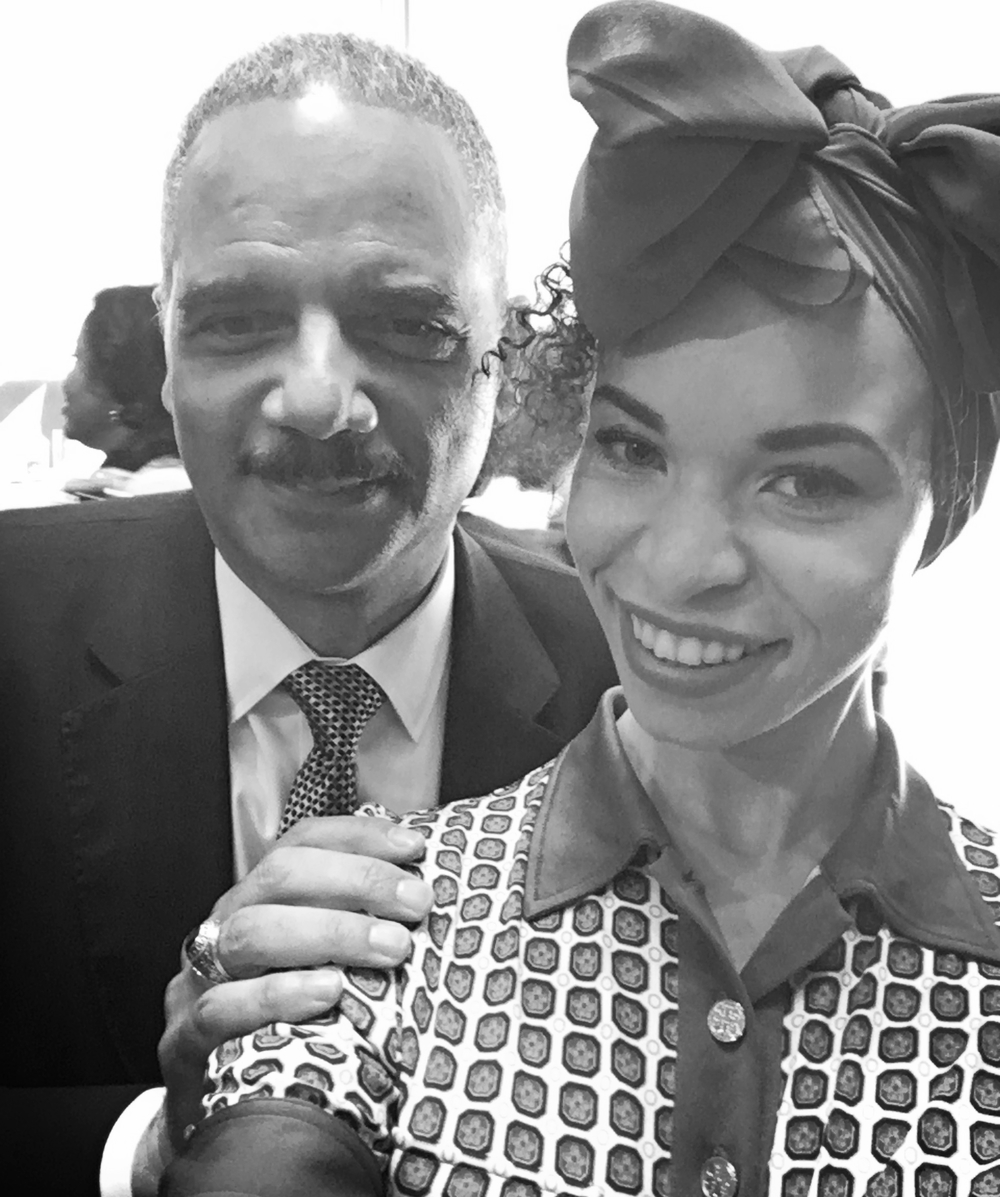 Attorney General Eric Holder and Blair Imani