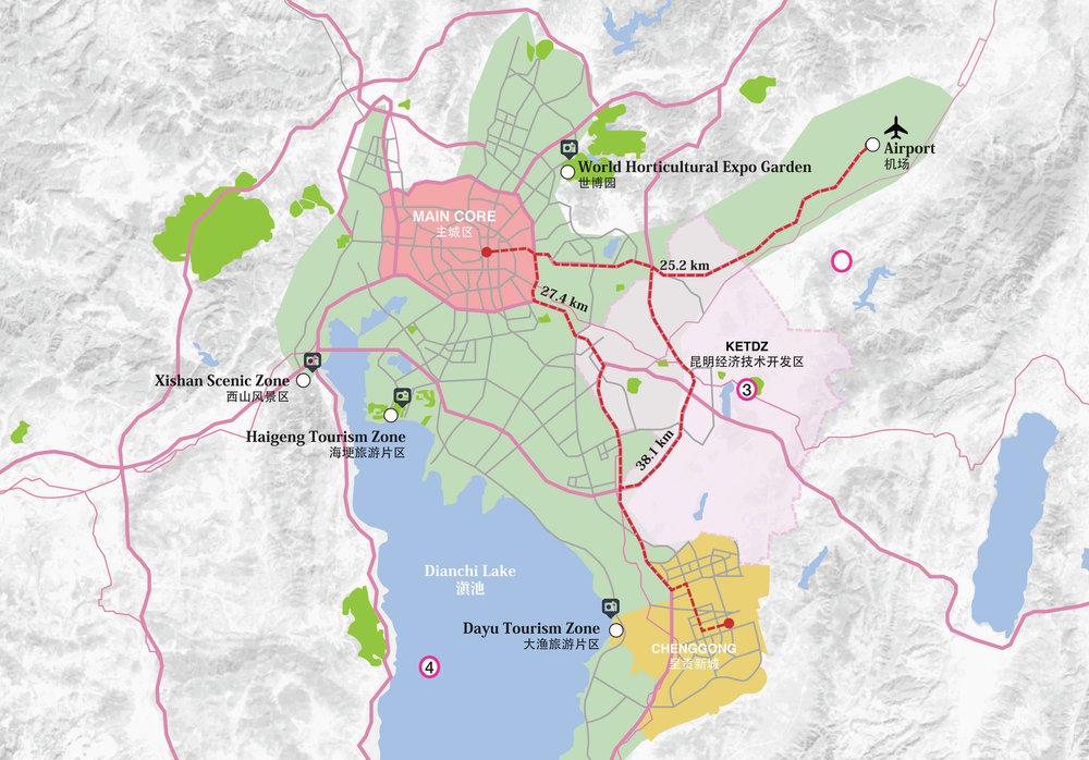Kunming Metropolitan 昆明城区规划