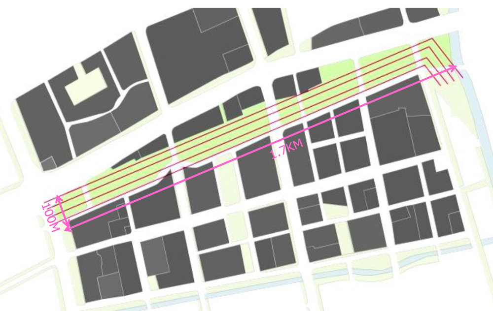Existing Power-Line Urban Corridor 現狀高壓走廊