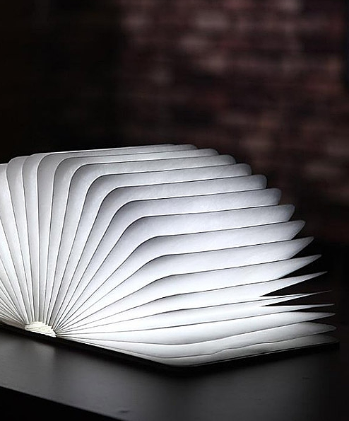 Foldable book LED lamp