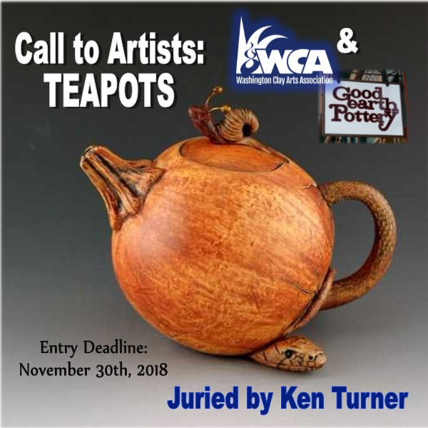 We are thrilled to partner with Good Earth Pottery for our 2nd Annual Juried Teapot Show!This year's juror is Ken TurnerJoin us for the opening reception of the Teapot Show on February 2nd from 12-3pm at Good Earth Pottery!1000 Harris Avenue, Bellingham, WA 98225 -
