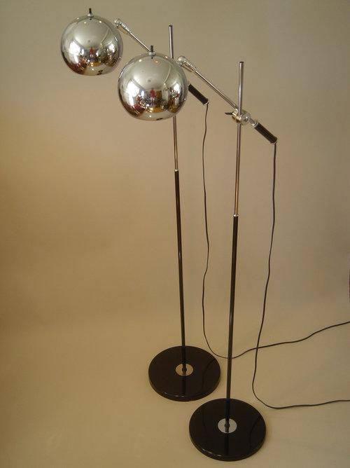 Robert Sonneman space age floor lamp pair — RADIASCENCE