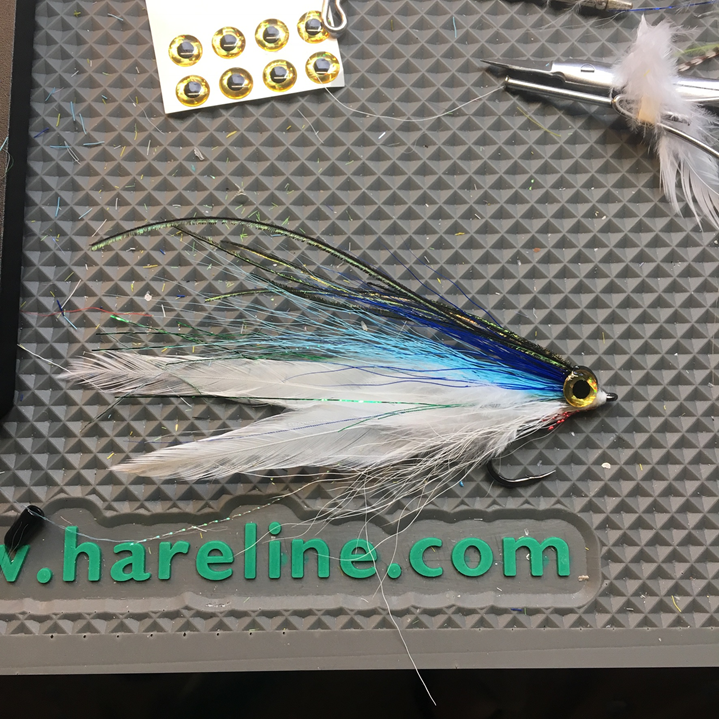 Herring deceiver, new for 2018. Tied on a laser sharp 3/0 Gamakatsu hook.