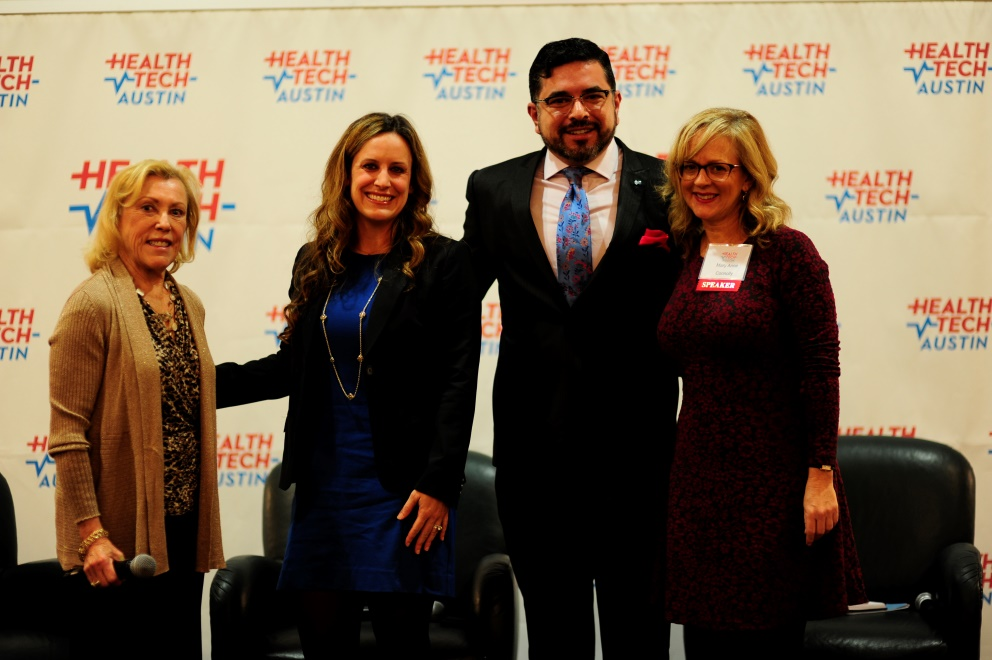 From Left to Right:  Marianne Fazen, Ph.D., Jennifer Speer, Esteban Lòpez, M.D., and Mary Anne Connolly, Moderator.