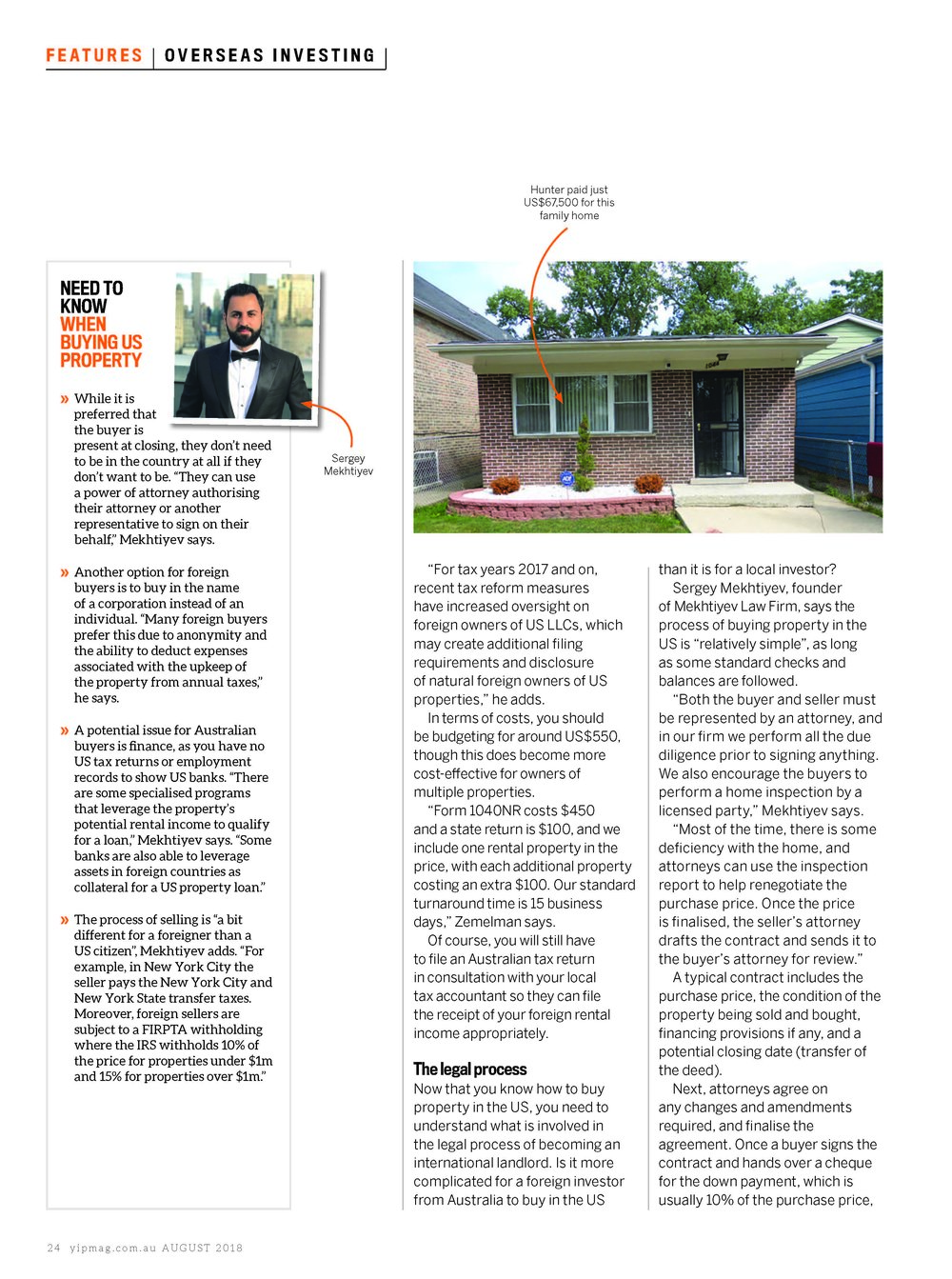 Mekhtiyev Law Investing in US Real Estate