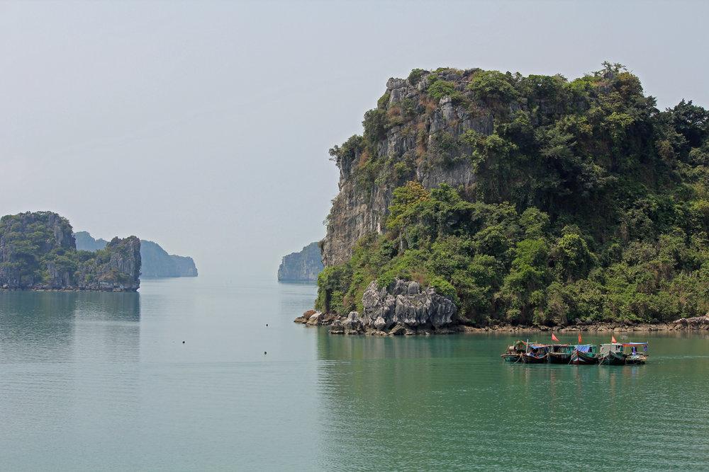 Fishing boats in Halong Bay