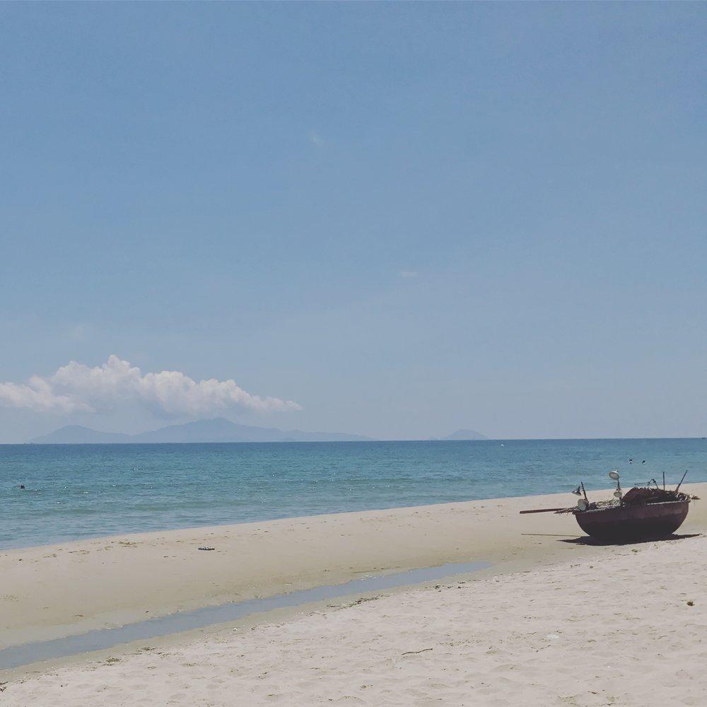 An Bang Beach and Fishing Boat